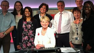Kay Alexander and Midlands Today production team