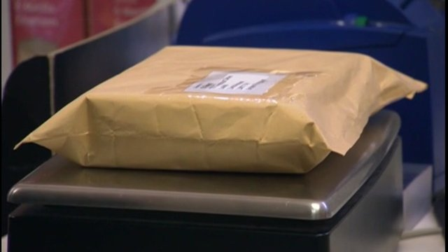 Parcel at the post office