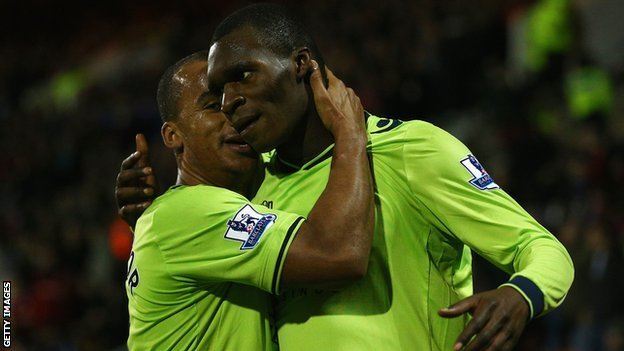 Gabriel Agbonlahor (left) and Christian Benteke