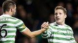 Kris Commons (right) scored three for Celtic against St Johnstone