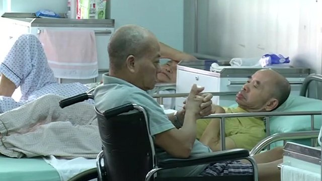 Elderly hospital patients in Hong Kong