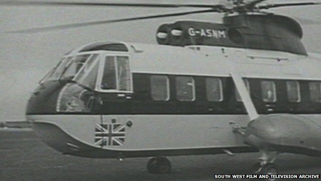 Isles of Scilly helicopter, first flight
