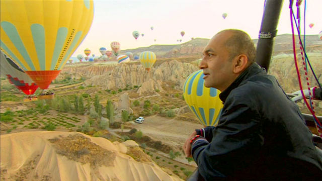 Rajan Datar in a balloon