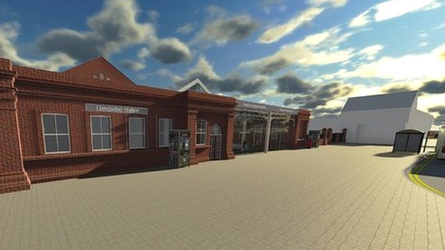 An architect's impression of Llandudno station