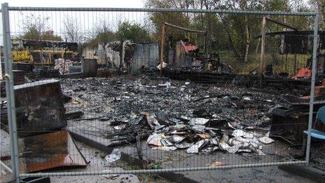 Midland Railway Centre fire