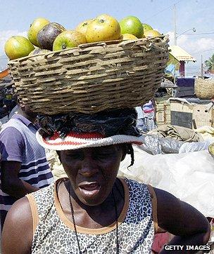 Fruit vendor in Haiti