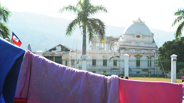 Haiti's presidential palace two years after being struck by an earthquake