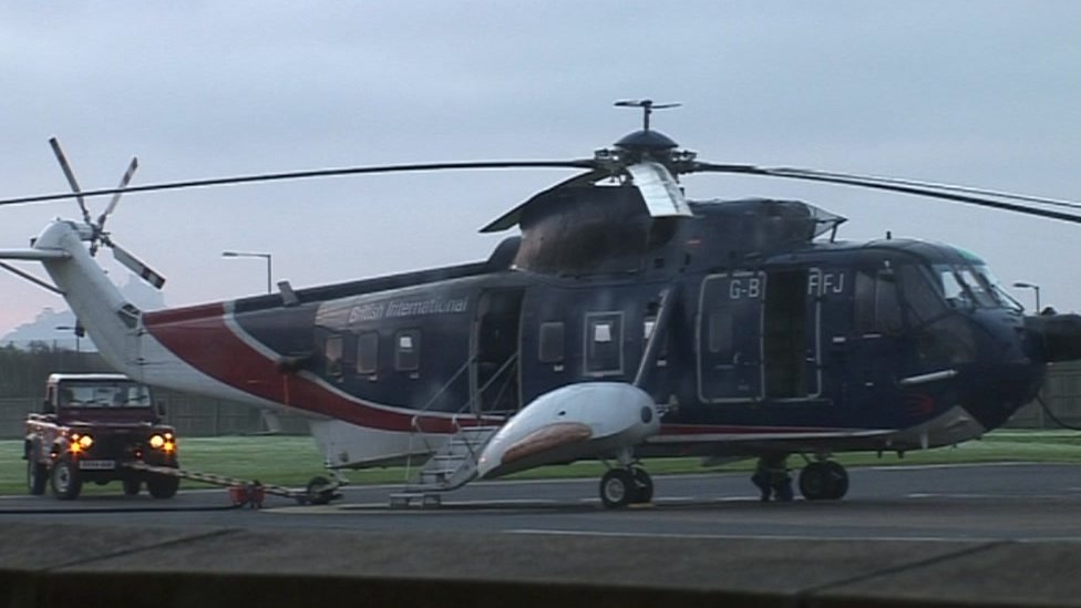 BBC News  In Pictures End Of Scilly39s Helicopter Link