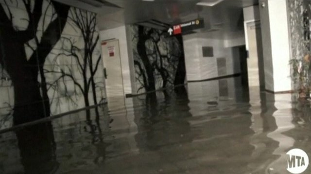 New York subway flooded