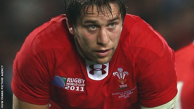 Wales back-row Ryan Jones