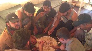 Saed Howshan and his nephews