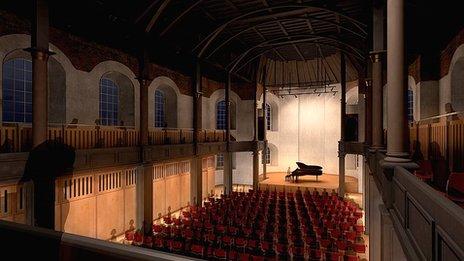 Artist's impression of St George's Theatre auditorium