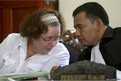 Lindsay Sandiford, left, and lawyer Ersa Karo Karo