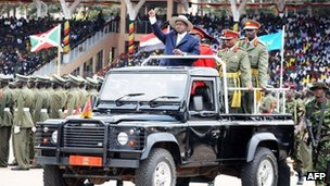 President Yoweri Museveni at celebrations to mark Uganda's independence (9 October 2012)