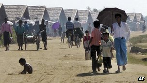 Muslim Rohingya refugees at a camp in Sittwe, Rakhine state, Burma