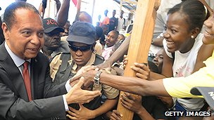 Baby Doc Duvalier meets fans in 2011
