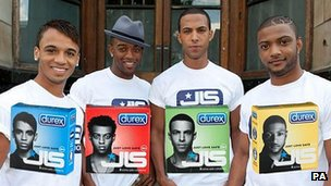 JLS and their condom range