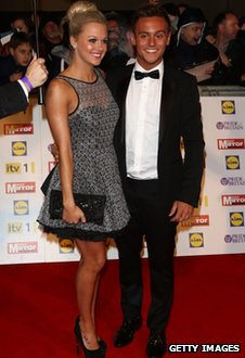 Tonia Couch and Tom Daley