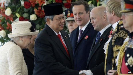 Susilo Bambang Yudhoyono welcomed on state visit to UK