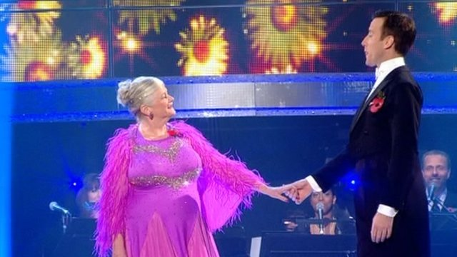 Ann Widdecombe on Strictly Come Dancing