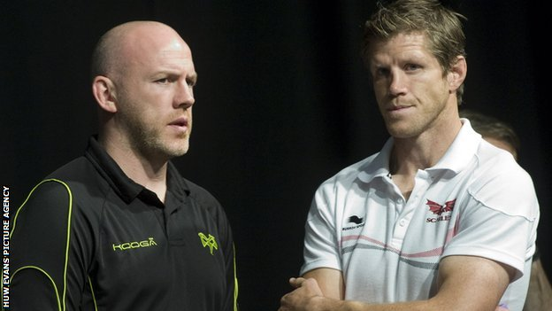 Steve Tandy (left) with Simon Easterby