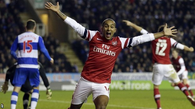 Arsenal striker Theo Walcott