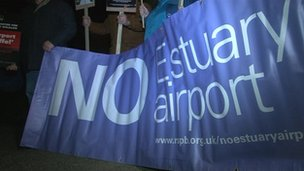 Airport protest