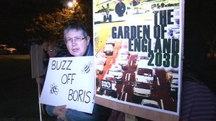 Protesters at BBC Radio Kent debate in Medway