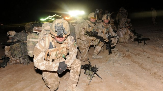 Soldiers from the 1st Battalion Royal Welsh