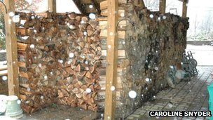 Caroline Snyder&#039;s woodpile