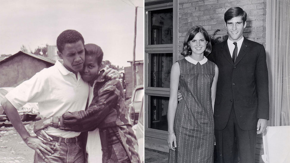 Barack And Michelle Obama Young Obama met Michelle