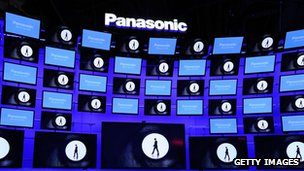 Panasonic TVs on display