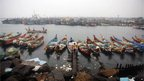 Fishing boats are anchored at the Bay of Bengal coast in Chennai, India, Tuesday, Oct. 30, 2012.