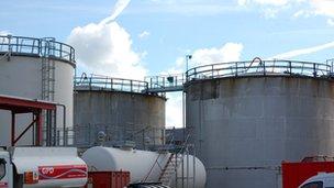 Fuel storage tanks in Guernsey