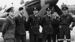 Battle of Britain pilots, 1945