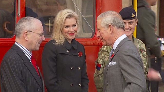 TfL Commissioner Peter Hendy, Nell McAndrew and Prince Charles