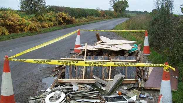 Asbestos dumped near Dale Abbey