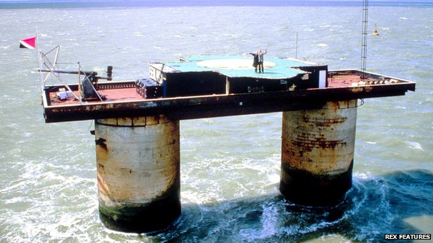 The Principality of Sealand, a WWII military fort in the North Sea