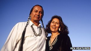 Russell Means with his wife Pearl