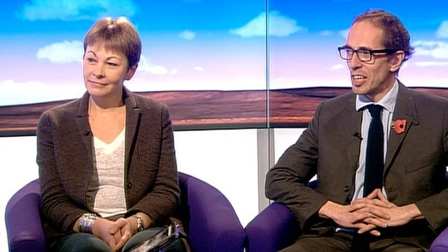 Caroline Lucas and James Delingpole
