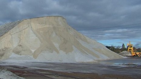 Salt mountain at Southampton Docks