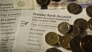 Cash and bank account details