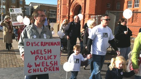 March in Cardiff Bay