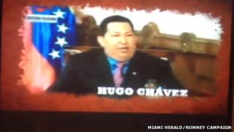 Chavez in a Romney campaign ad