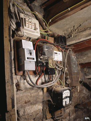 Old-fashioned electricity meters