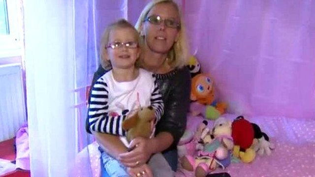 Fiona Dymore and her daughter
