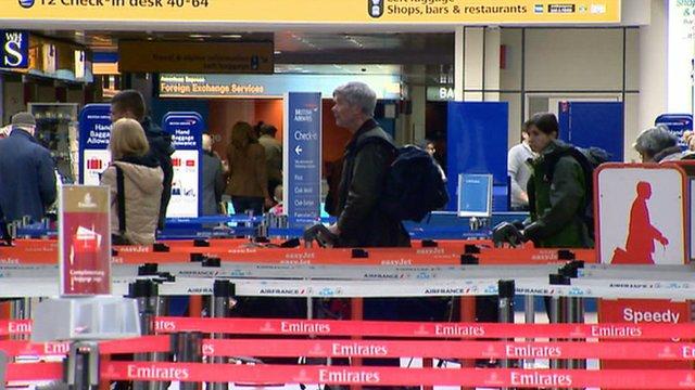 Passengers in Glasgow airport