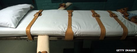A bed with straps used in executions