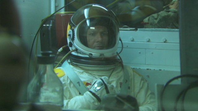 Felix Baumgartner training in his pressure suit