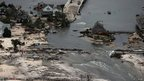 Storm Sandy devastation seen from above in Mantoloking, New Jersey 31 October 2012